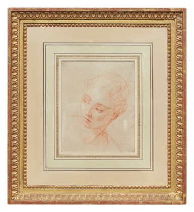View 2. Thumbnail of Lot 28. FRANÇOIS LE MOYNE | RECTO: HEAD OF A WOMAN TURNING TO HER RIGHT,  VERSO: HEAD STUDY OF A WOMAN IN PROFILE.