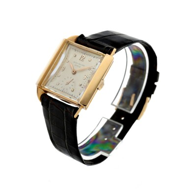 View 2. Thumbnail of Lot 141. REFERENCE 2425 'SKATER' A PINK GOLD SQUARE WRISTWATCH, MADE IN 1947.