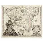 [BRAZIL]--HORATIUS | Il Regno del Brasile parte nobilissima del Mondo nuovo, 1698, engraved map