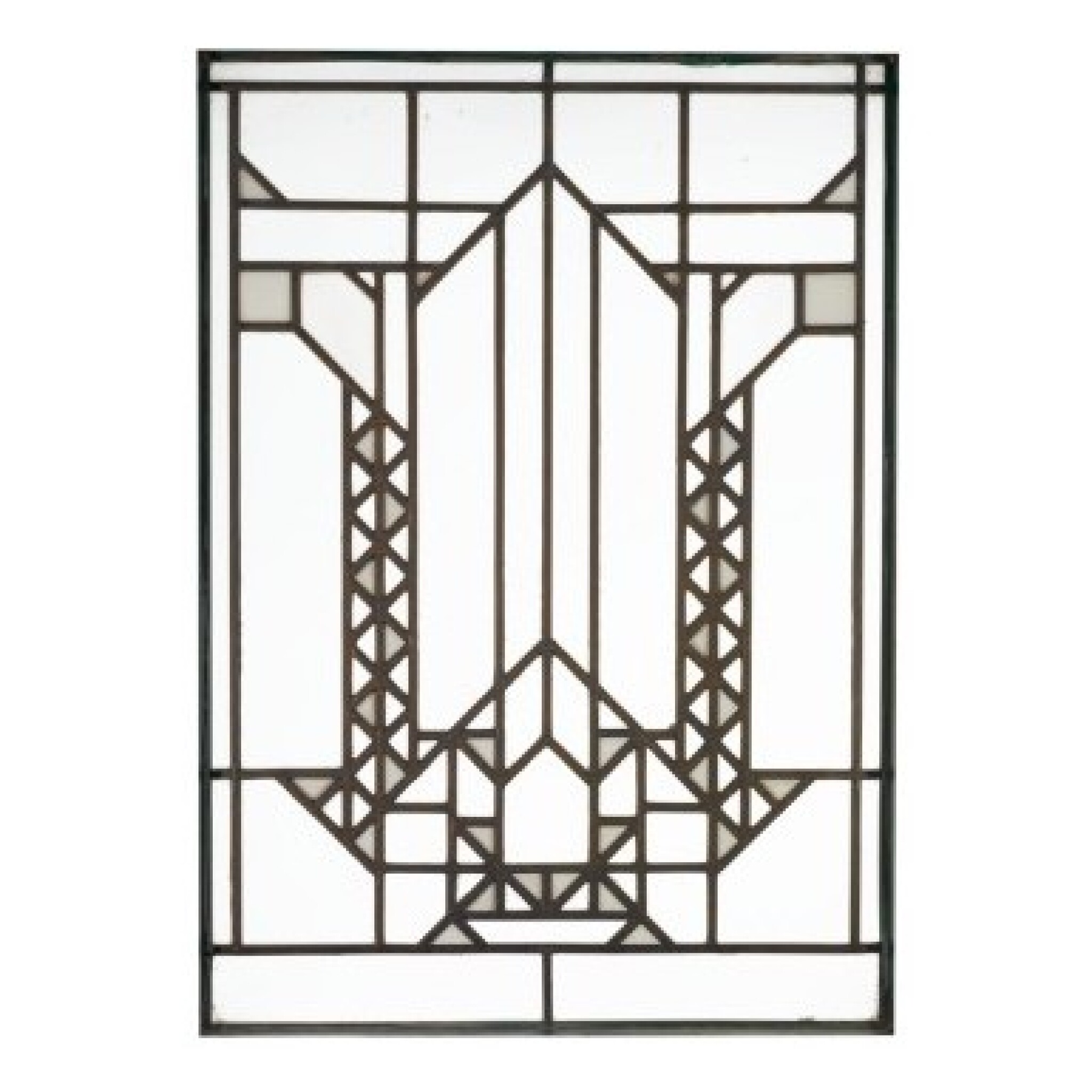 """View full screen - View 1 of Lot 78.  FRANK LLOYD WRIGHT   WINDOW FROM THE FRANCIS W. LITTLE HOUSE, """"NORTHOME,"""" WAYZATA, MINNESOTA."""
