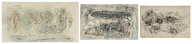 View 1. Thumbnail of Lot 1837. AMBADAS KHOBRAGADE | UNTITLED (SET OF THREE) .
