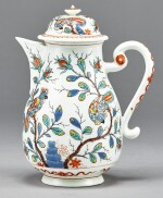 A MEISSEN DUTCH-DECORATED COFFEE-POT AND COVER CIRCA 1720-25
