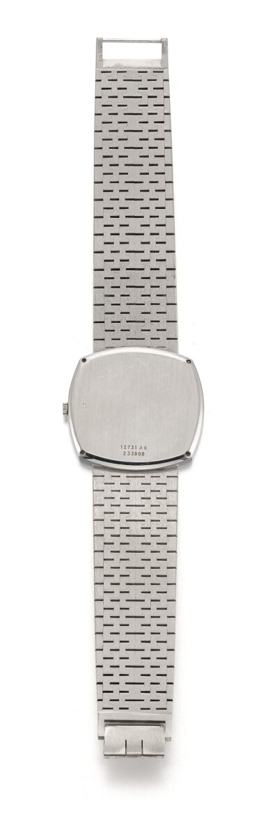 View 4. Thumbnail of Lot 1204. PIAGET | REF 12731 A6, WHITE GOLD BRACELET WATCH WITH TIGER'S EYE DIAL CIRCA 1990.