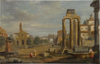 View 2. Thumbnail of Lot 102. Rome, a view of Campo Vaccino.