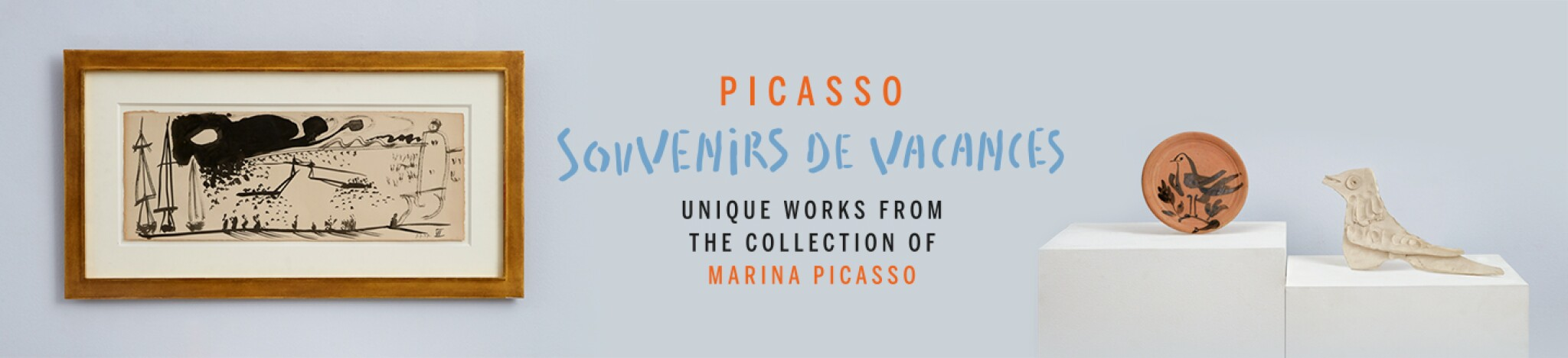 Pablo Picasso: Souvenirs de Vacances. Unique Works from the Collection of Marina Picasso. Online Sale.