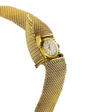 View 3. Thumbnail of Lot 68. Montre bracelet de dame or | Gold lady's bracelet watch.