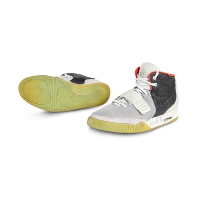 View 2. Thumbnail of Lot 38. Nike Air Yeezy 2 'Mismatch' Sample Signed by Kanye West | Size 12.