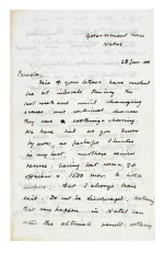 CHURCHILL | autograph letter signed, to Pamela Plowden, 1900