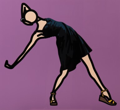 View 1. Thumbnail of Lot 512. Caterina dancing in black dress.