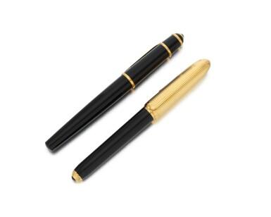 View 3. Thumbnail of Lot 110. Two fountain pens (Due penne stilografiche).