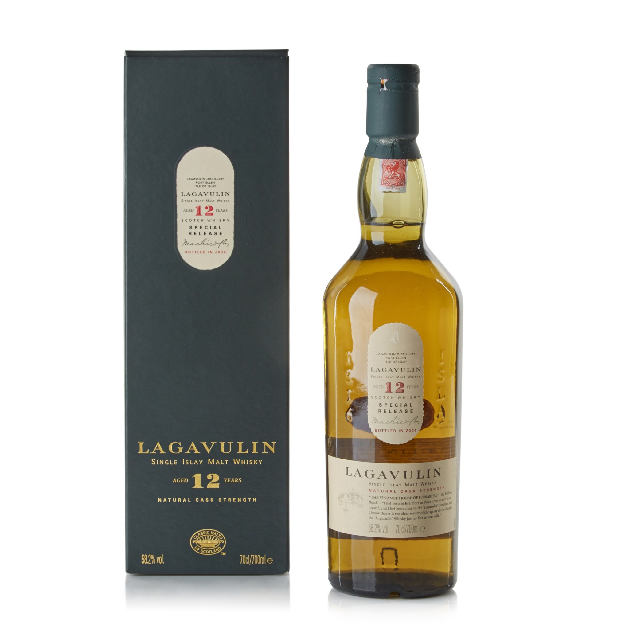 View full screen - View 1 of Lot 117. Lagavulin 12 Year Old 2004 Special Release 58.2 abv NV .