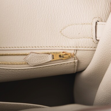 View 9. Thumbnail of Lot 5. Hermès Beton Birkin 30cm of Togo Leather with Gold Hardware.