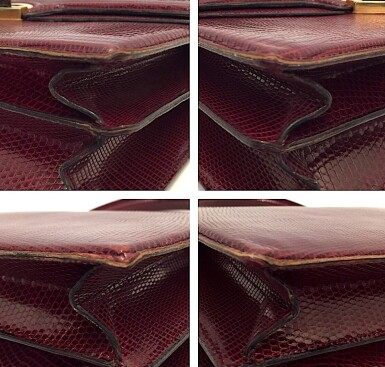 View 15. Thumbnail of Lot 725. GUCCI   BURGUNDY VINTAGE BAG IN LIZARD, c.1960s.