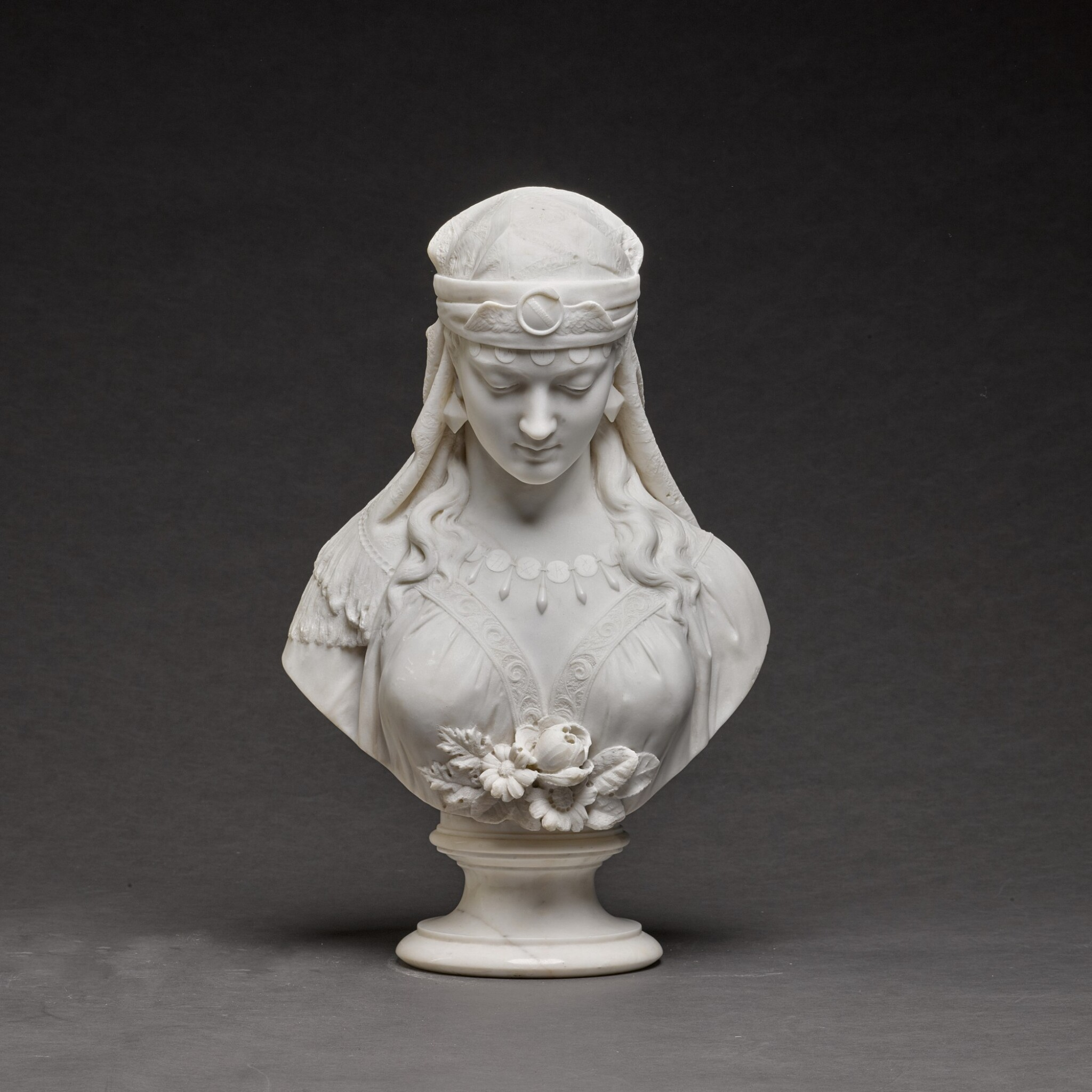 View full screen - View 1 of Lot 121. GALLERIA LAPINI | BUST OF THE SHULAMITE.