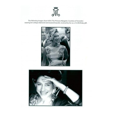 View 5. Thumbnail of Lot 1688. GARRARD & CO. | ANTIQUE DIAMOND AND ENAMEL BRACELET    Garrard & Co. | 古董 鑽石 配 琺瑯彩 手鏈.