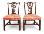 A PAIR OF GEORGE III MAHOGANY SIDE CHAIRS, CIRCA 1765