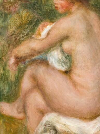 View 2. Thumbnail of Lot 1042. Pierre-Auguste Renoir 皮耶・奧古斯特・雷諾瓦 | La Baigneuse assise 沐浴的少女.