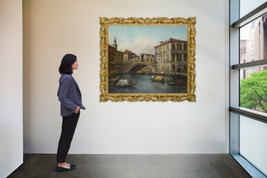 View 4. Thumbnail of Lot 620. VENETIAN SCHOOL, 19TH CENTURY | VIEW OF THE RIALTO BRIDGE FROM THE NORTH WITH THE PALAZZO DEI CAMERLENGHI, VENICE.