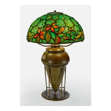 "TIFFANY STUDIOS   ""WOODBINE"" TABLE LAMP"