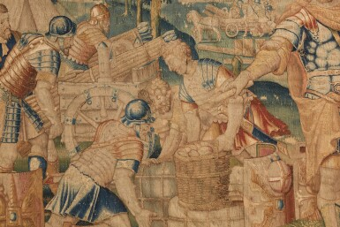 View 3. Thumbnail of Lot 34. A Flemish Classical Tapestry, Oudenaarde, second half 16th century.