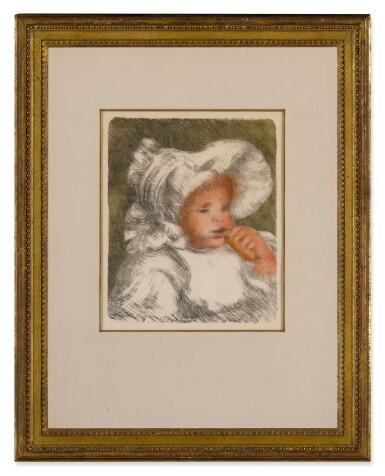 View 2. Thumbnail of Lot 63. L'enfant au biscuit (Jean Renoir) (Delteil, Stella 31).