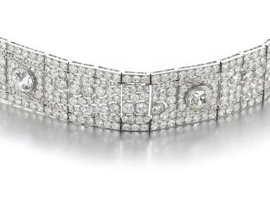 View 3. Thumbnail of Lot 602. Diamond bracelet, 1930s   鑽石手鏈, 1930年代.