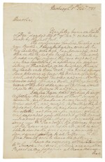 "WASHINGTON, GEORGE | Autograph letter signed (""Go: Washington"") as Continental Commander to Bryan Fairfax, hoping for good news regarding the peace negotiations to end the Revolutionary War—not knowing the preliminary articles of peace had been signed two weeks earlier"
