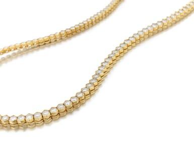 View 2. Thumbnail of Lot 98. Diamond necklace (Collana in diamanti).