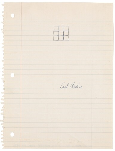 View 1. Thumbnail of Lot 11. CARL ANDRE | UNTITLED.