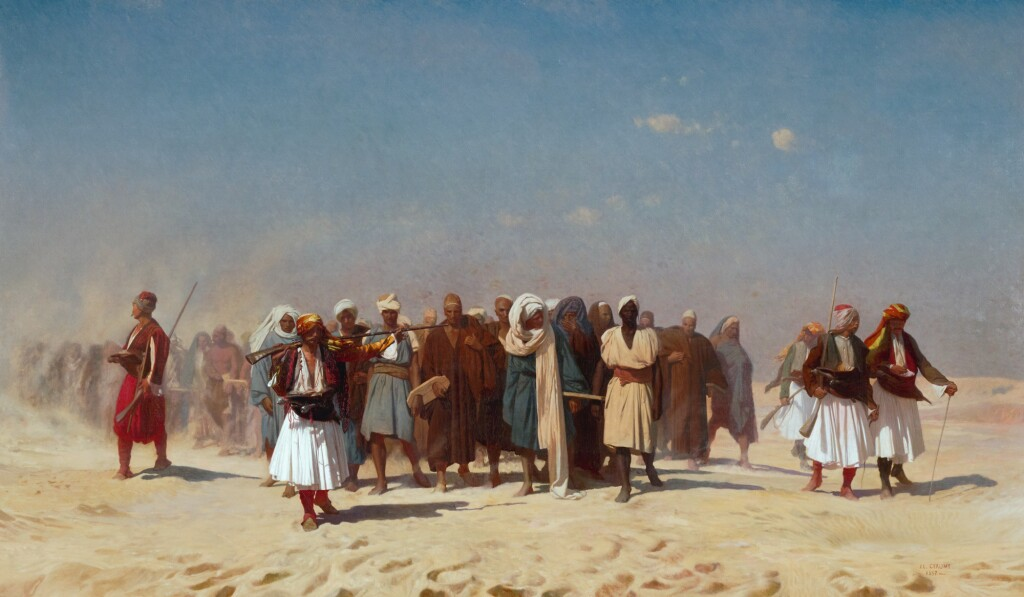 JEAN-LÉON GÉRÔME | EGYPTIAN RECRUITS CROSSING THE DESERT