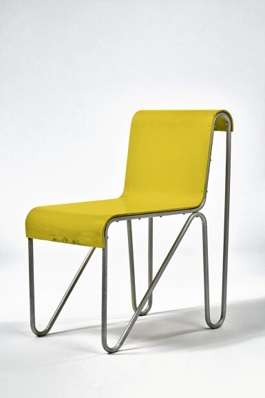 """View 1. Thumbnail of Lot 10. """"Beugel"""" Chair."""