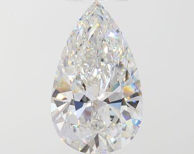 A 3.68 Carat Pear-Shaped Diamond, F Color, VS1 Clarity 3.68卡拉梨形鑽石,F色,VS1淨度