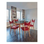 """Ondulation"" Table and Four ""Baltique"" Side Chairs"