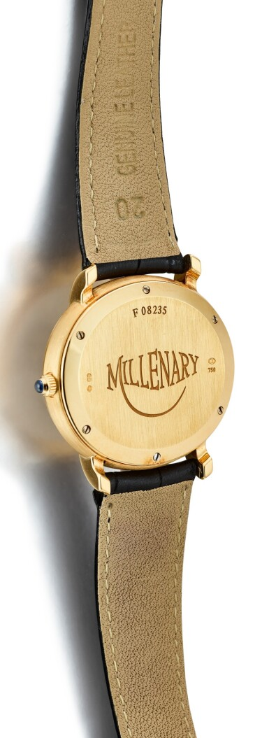 View 3. Thumbnail of Lot 111. AUDEMARS PIGUET | MILLENARY A YELLOW GOLD DUAL TIME ZONE WRISTWATCH WITH DATE AND POWER RESERVE INDICATION, CIRCA 2000.