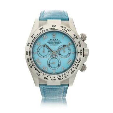 View 1. Thumbnail of Lot 4. Reference 116519 'Daytona Beach'  A white gold automatic chronograph wristwatch, Circa 2000.
