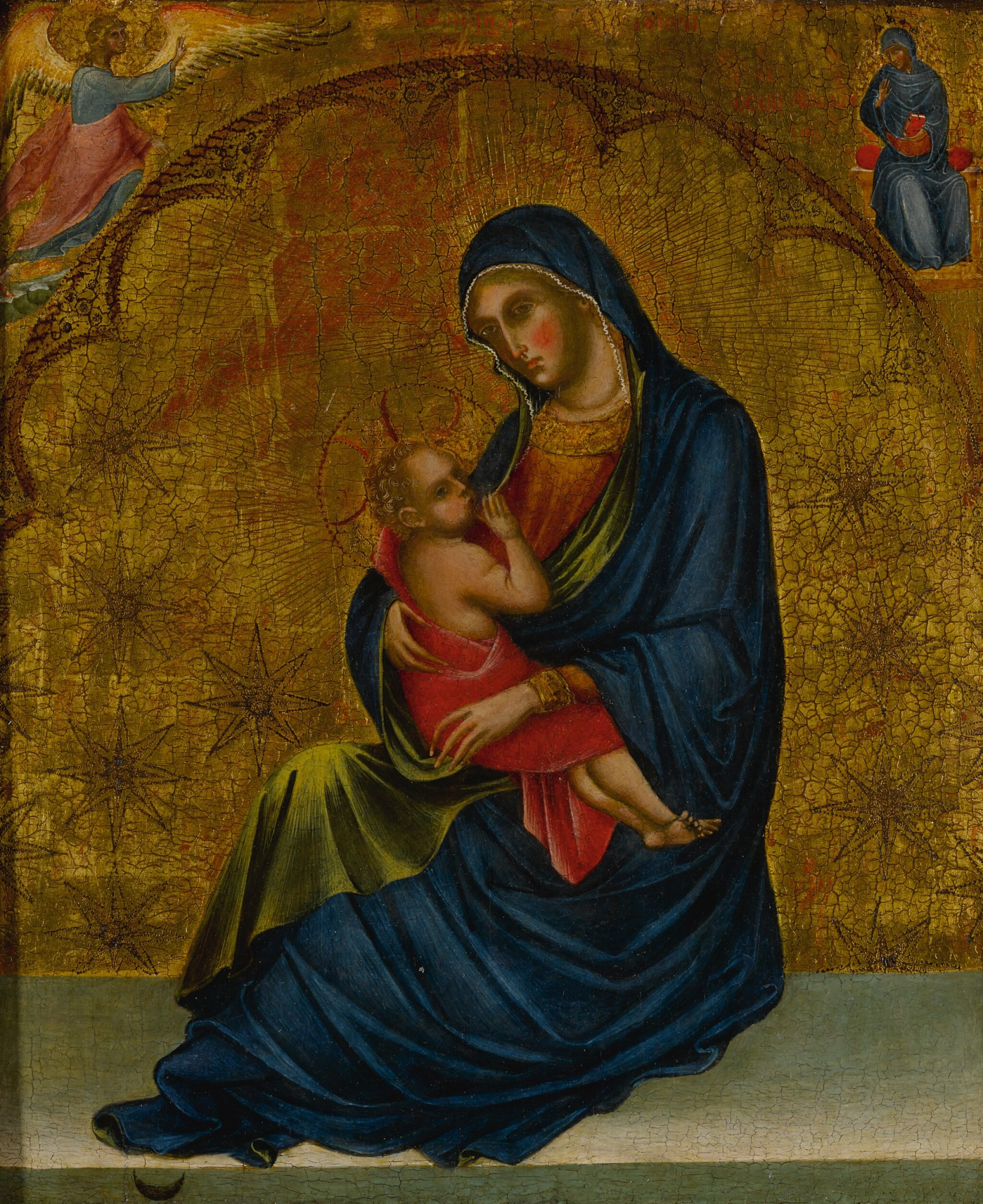 View full screen - View 1 of Lot 503. Madonna of Humility with the Annunciation .