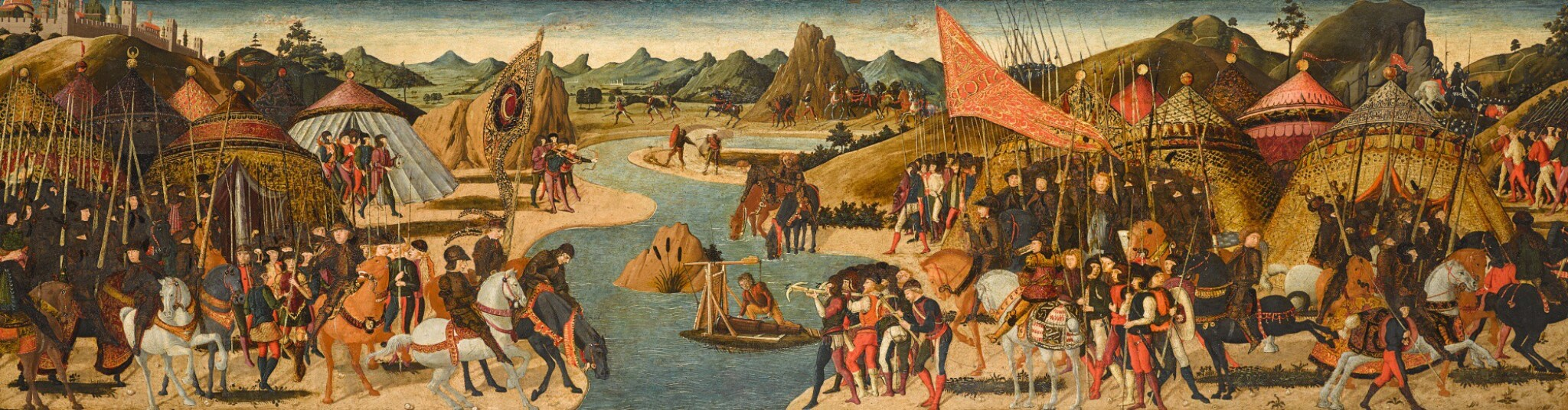 View full screen - View 1 of Lot 23. PAOLO UCCELLO  |  BATTLE ON THE BANKS OF A RIVER, PROBABLY THE BATTLE OF THE METAURUS (207 BCE) .