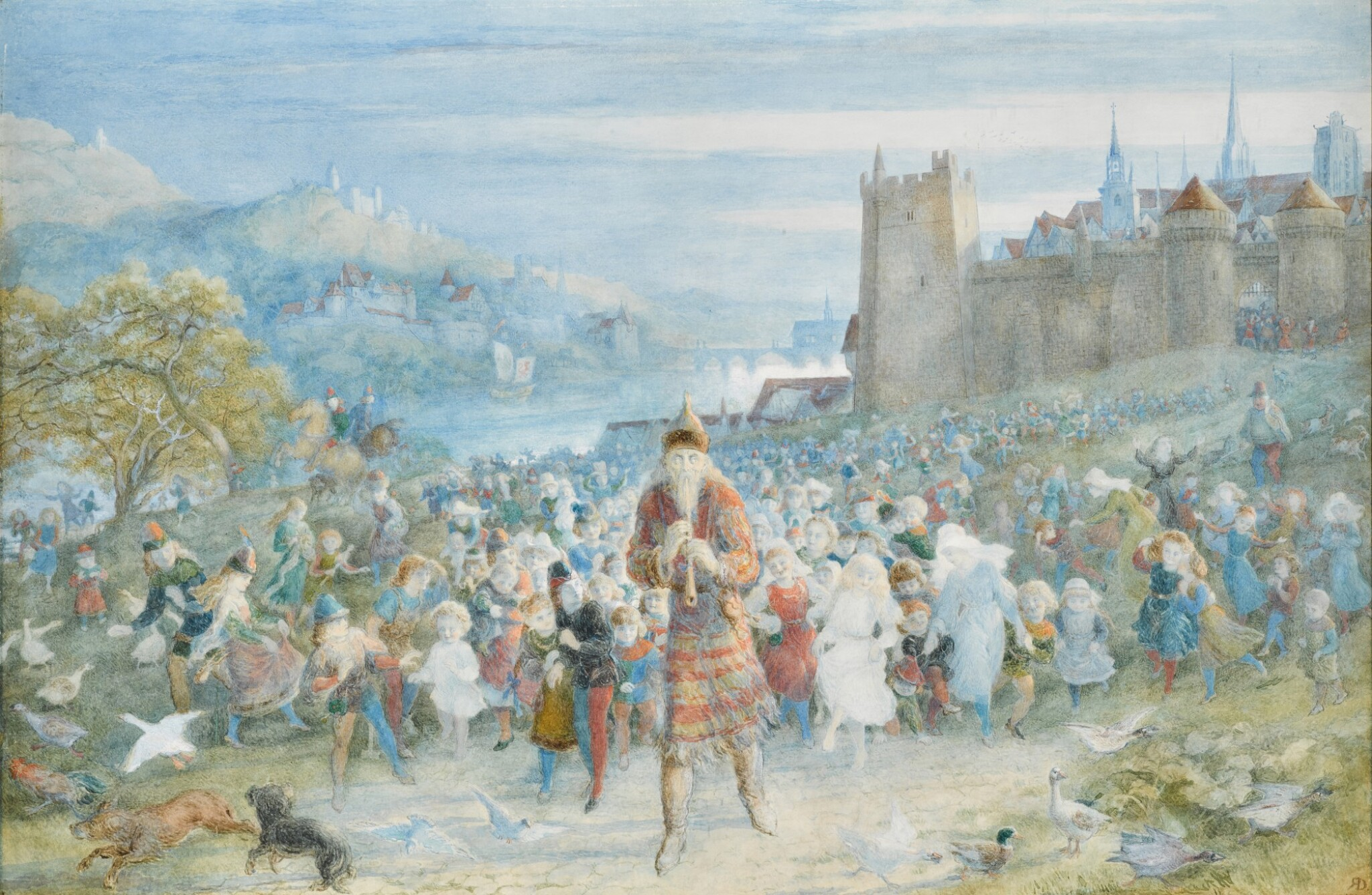 View 1 of Lot 23.   The Pied Piper of Hamelin.