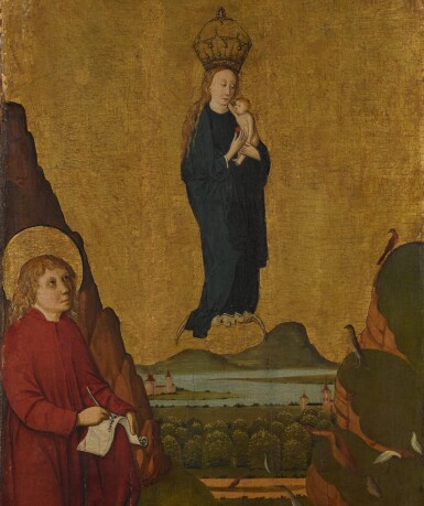 SCHOOL OF KONSTANZ, 15TH CENTURY | The Vision of Saint John the Evangelist on Patmos