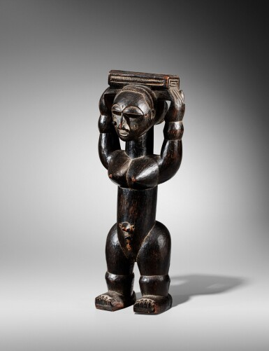View 2. Thumbnail of Lot 100. Statue, Gwa / Attié, Côte d'Ivoire   Gwa / Attie figure, Côte d'Ivoire.