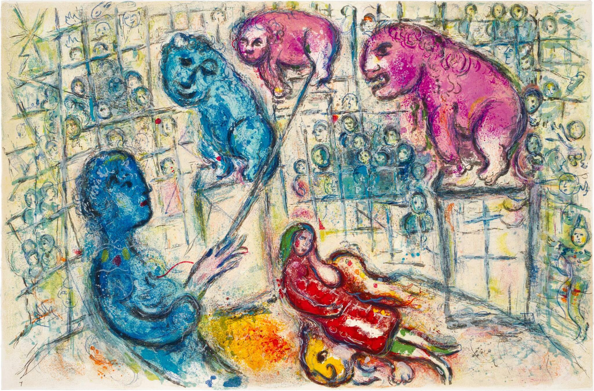 View full screen - View 1 of Lot 37.  MARC CHAGALL | LE CIRQUE: ONE PLATE (M. 506; C. BKS. 68).