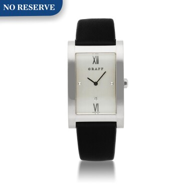 View 1. Thumbnail of Lot 424. REF GXXVIII WHITE GOLD WRISTWATCH WITH DATE CIRCA 2005.