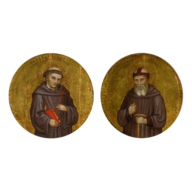 View 1. Thumbnail of Lot 20. Saint Francis of Assisi; Saint William of Maleval.