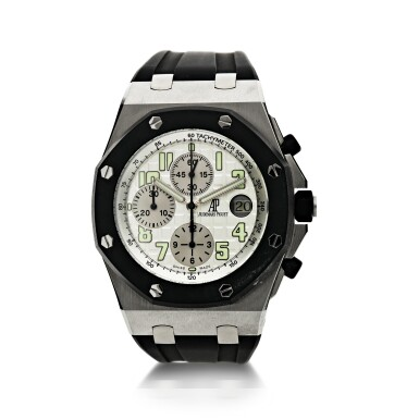 REFERENCE 25940SK.OO.D002.02A CAROYAL OAK OFFSHORE A STAINLESS STEEL AUTOMATIC CHRONOGRAPH WRISTWATCH WITH DATE, CIRCA 2010