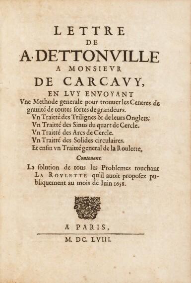 View 2. Thumbnail of Lot 35. Lettres de A. Dettonville ... Paris, 1658-1659. Rarissime édition originale en reliure de l'époque..