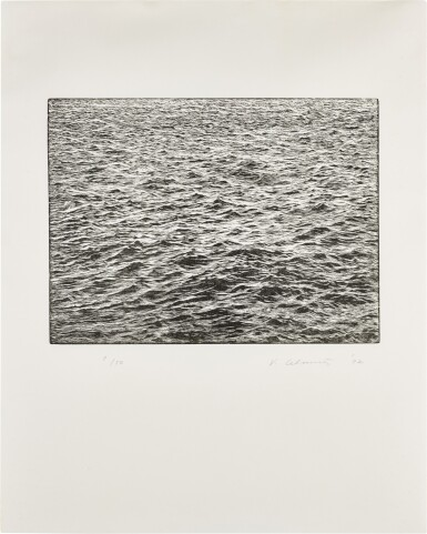 View 1. Thumbnail of Lot 164. Ocean Surface Woodcut 1992 (R. p. 52).