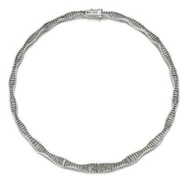 View 3. Thumbnail of Lot 50. Harry Winston   Diamond necklace.