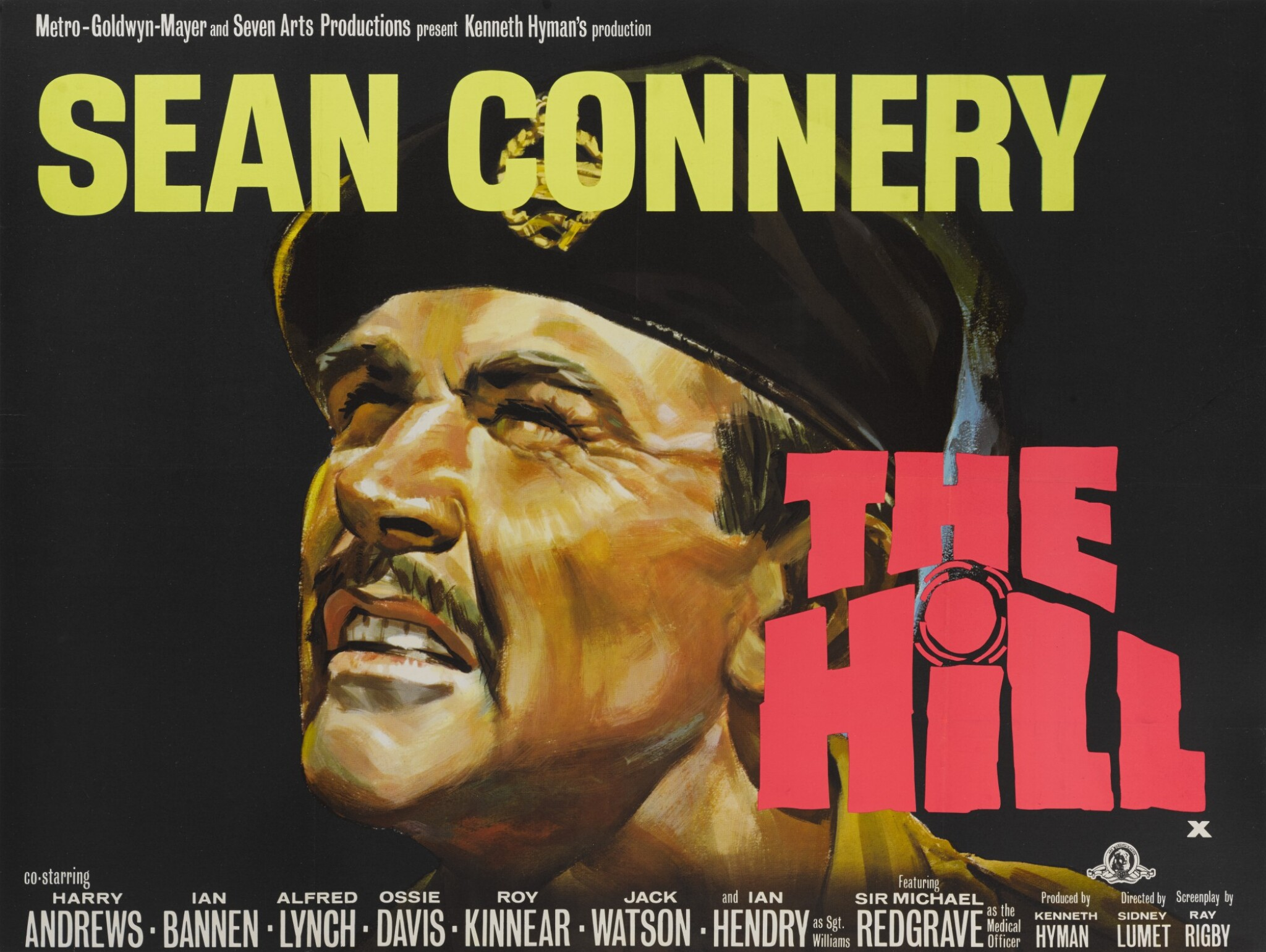 View full screen - View 1 of Lot 103. THE HILL (1965) POSTER, BRITISH.