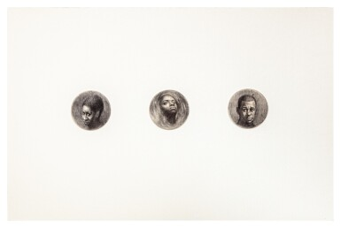 View 1. Thumbnail of Lot 282. Three Round Heads (Triptych).