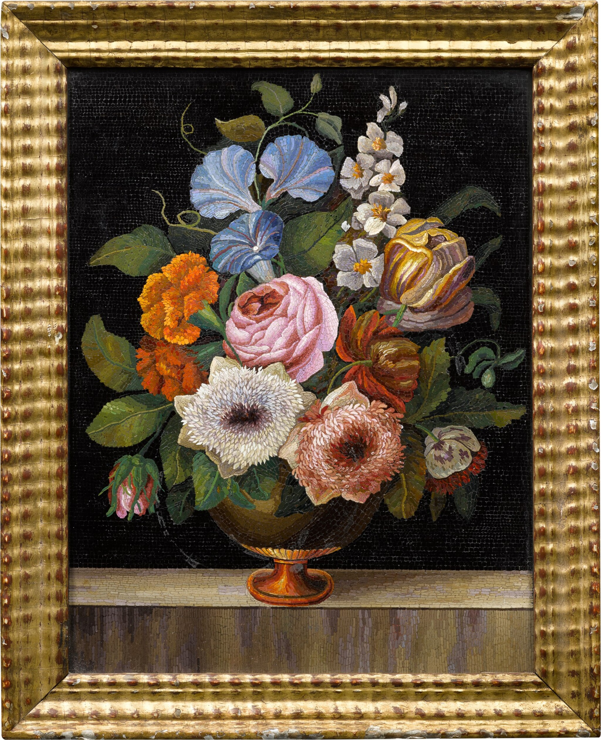 View 1 of Lot 119. An Italian micromosaic floral still life panel, Rome, mid-19th century.